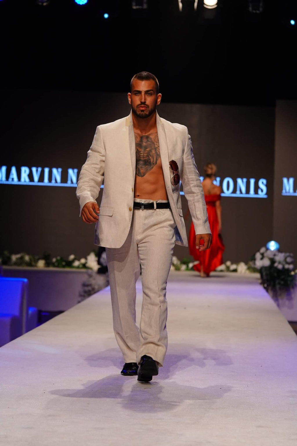 Marvin Nonis -Mens Casual Biege Suit
