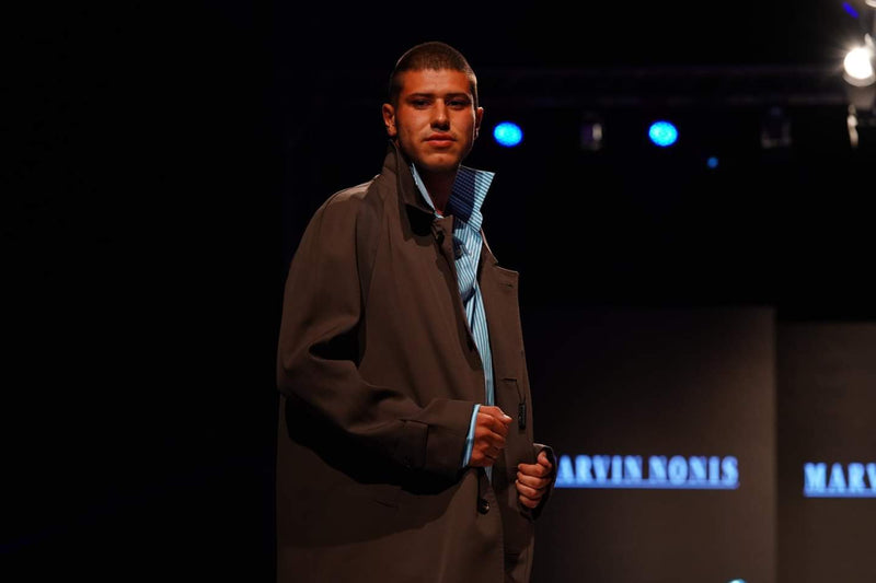 Marvin Nonis -  Luxury Mens Long Brown Overcoat