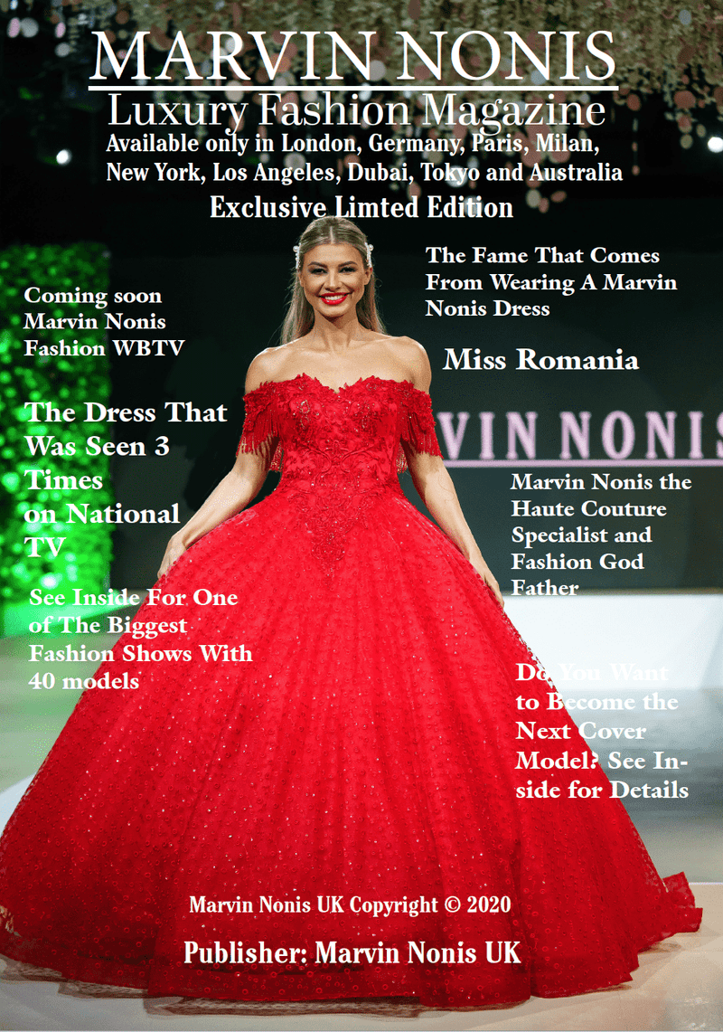 Marvin Nonis Luxury Fashion Magazine - The Red Dress