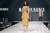 Long Mustard Coloured Dress with Belt