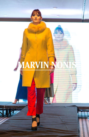 Marvin Nonis Ladies Mustard Coat