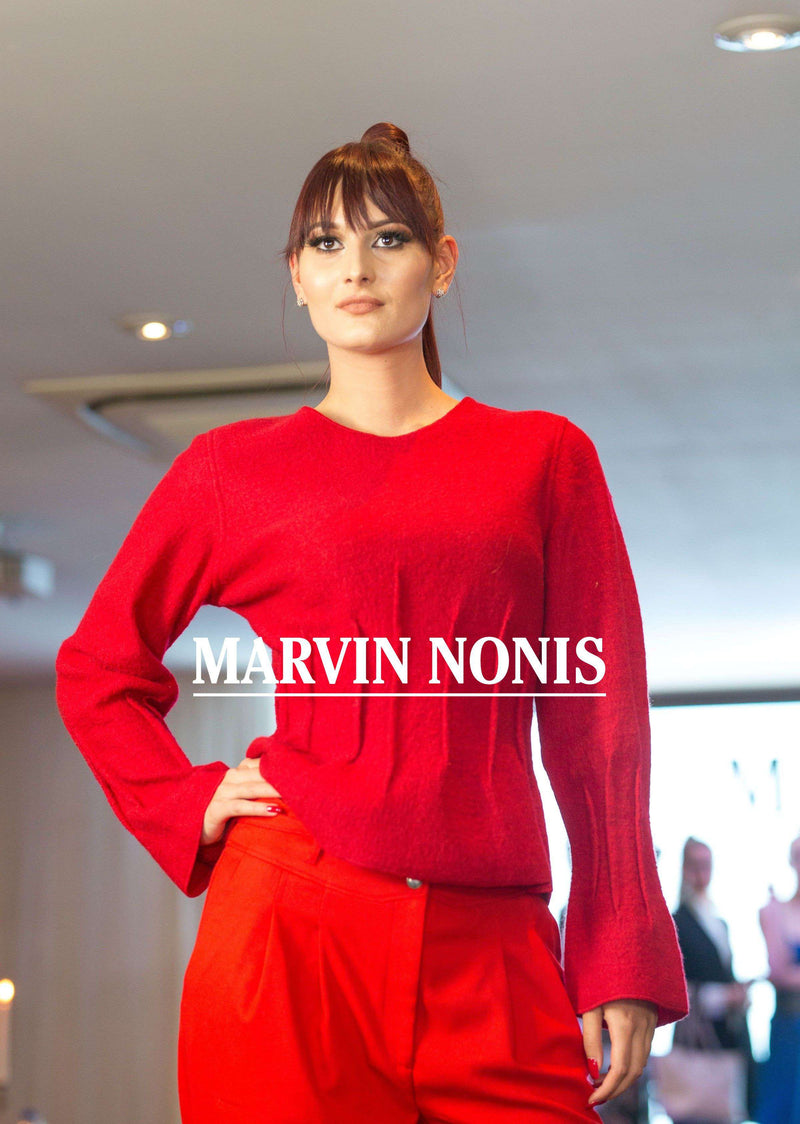 Ladies red top and trousers