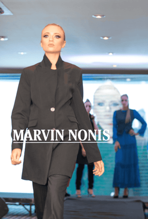 Marvin Nonis Ladies Black Trouser Suit