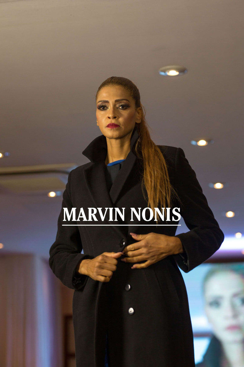 MArvin Nonis Ladies Long Black Coat