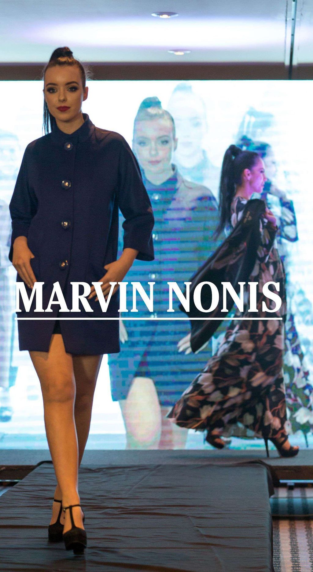Marvin Nonis Ladies Navy Blue Coat