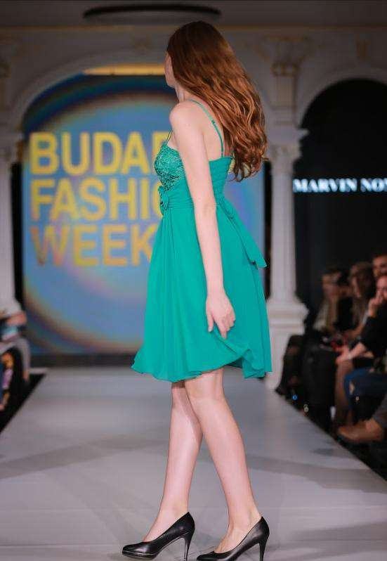 Emerald Green Dress - side view
