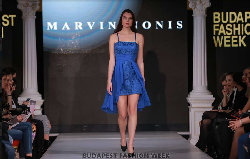 Marvin Nonis - Short Sapphire Blue Cocktail Dress