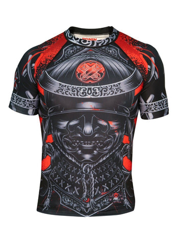Blackout Samurai Ghost Short Sleeve Rash Guard