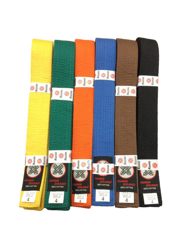 Ronin Brand Colored Rank Belts