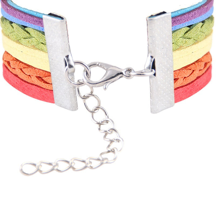 rainbow love bracelet pride jewelry
