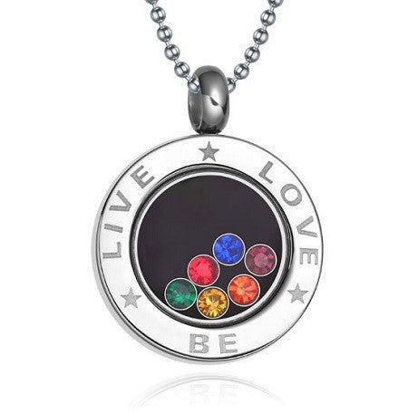 Rainbow Live Love Necklace