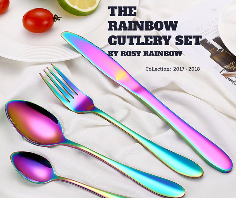 Rainbow Flatware Set from Rosy Rainbow