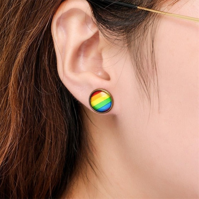 Fashionable Ladies Earrings Pendientes Design of rainbow earrings