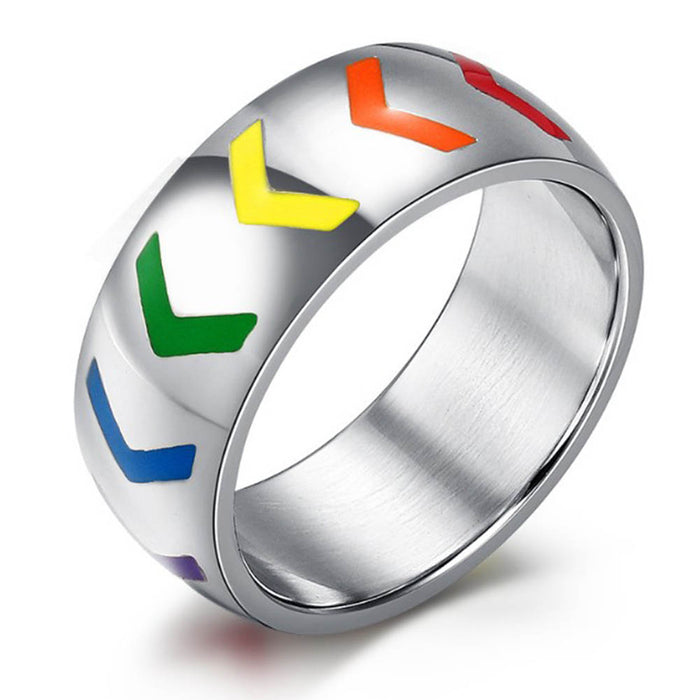 rainbow ring pride jewelry