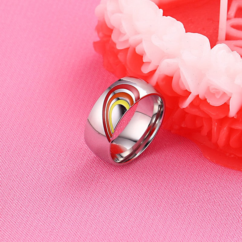 rainbow wedding ring pride jewelry