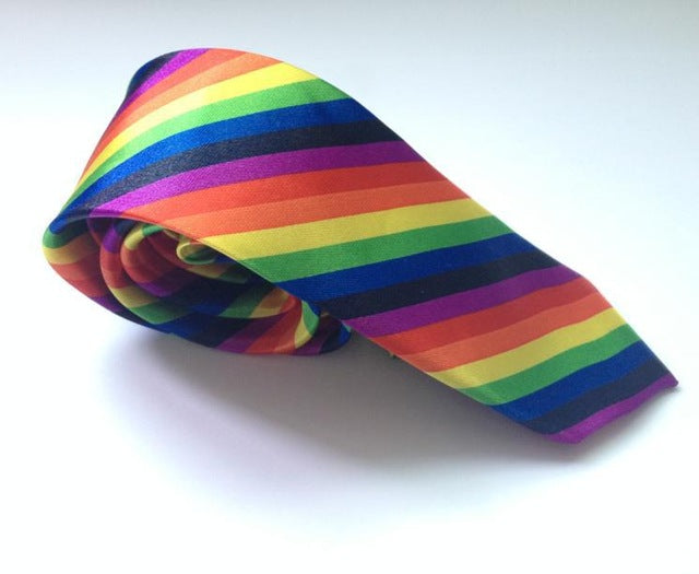 Rainbow Slim Men's Tie