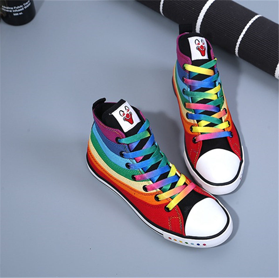 Rainbow Canvas Shoes
