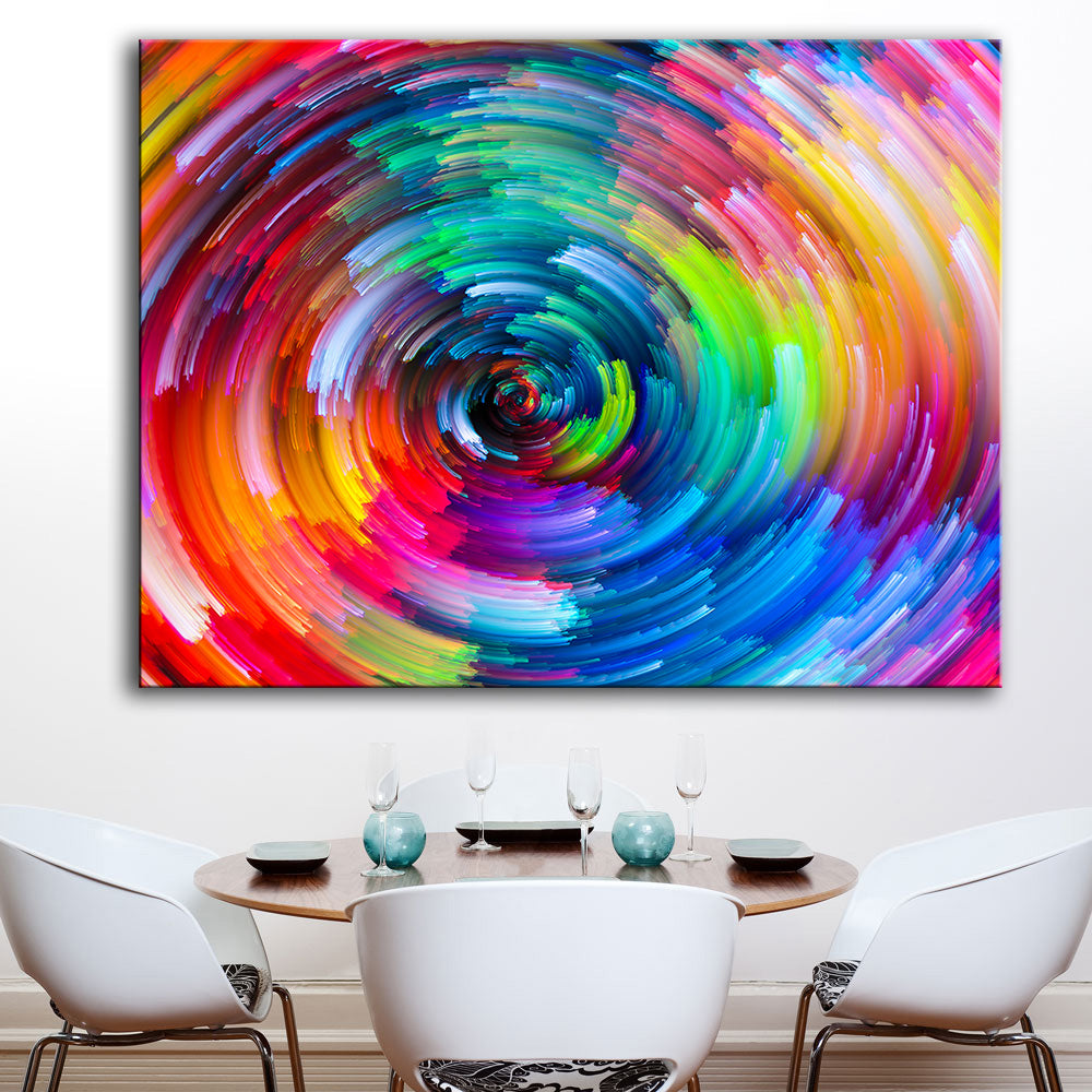 Rainbow Canvas Oil Wall Painting 1