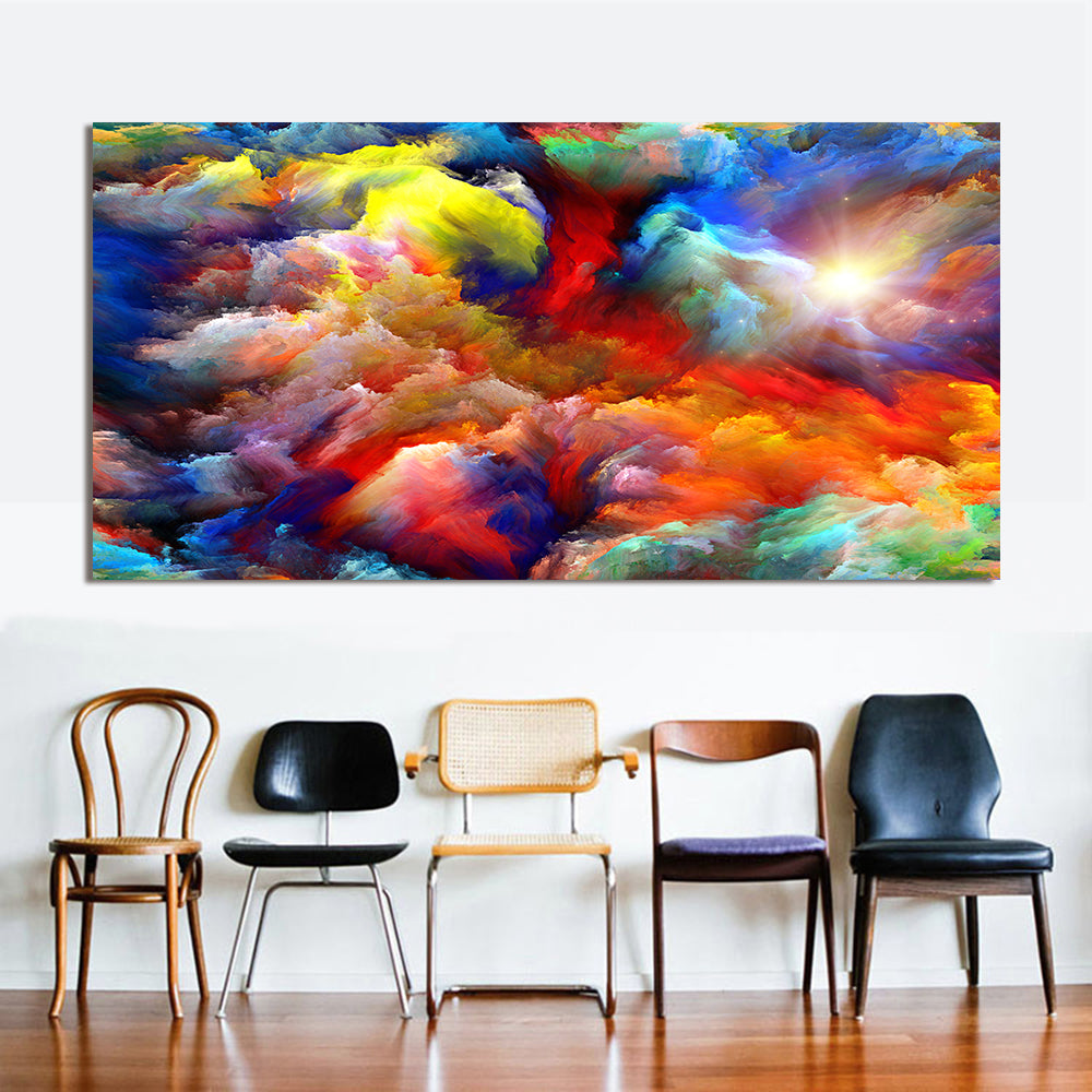 Rainbow Canvas Oil Wall Painting 6