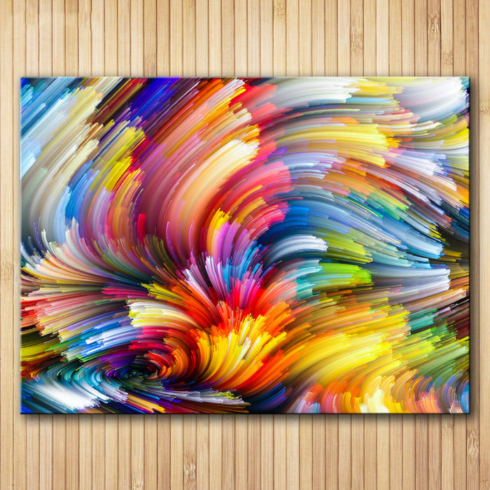 Rainbow Canvas Oil Wall Painting 5