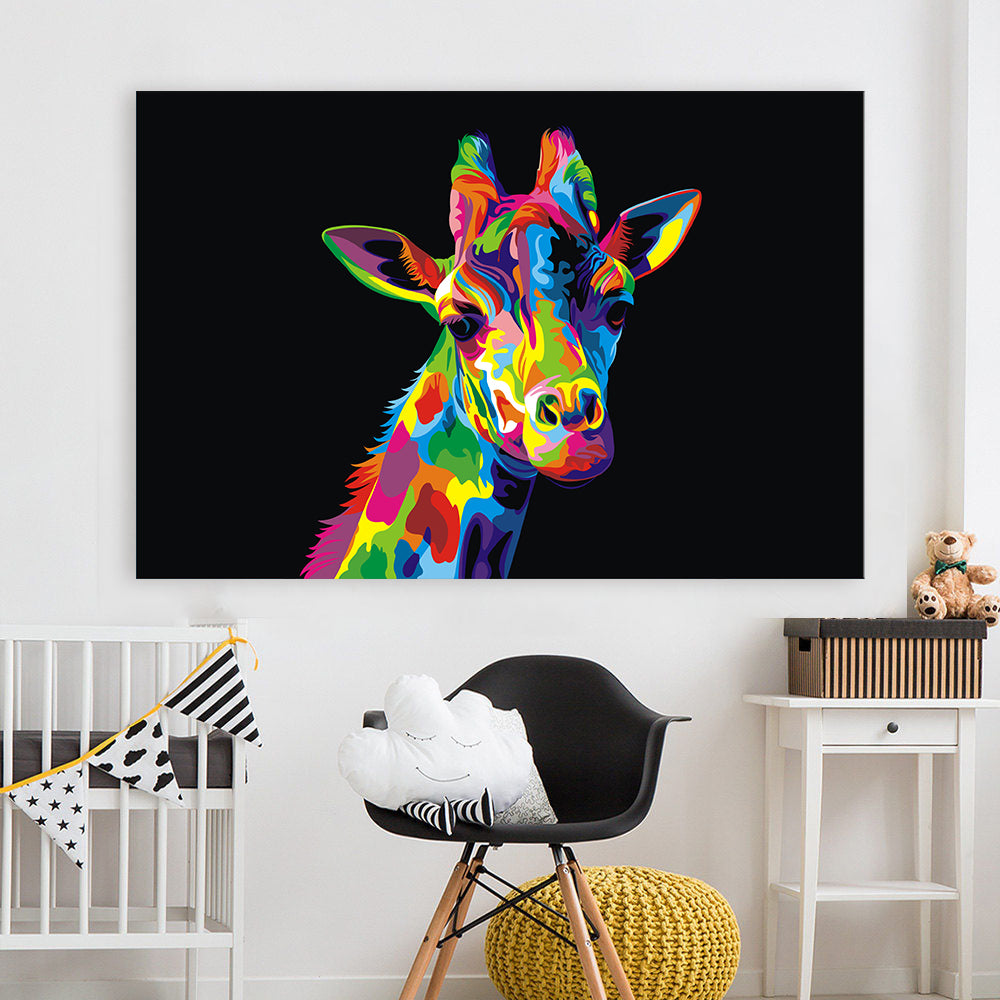 Abstract Giraffe Pop Art Painting