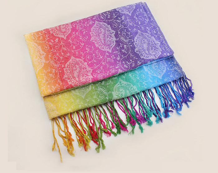 Rainbow Winter Scarf