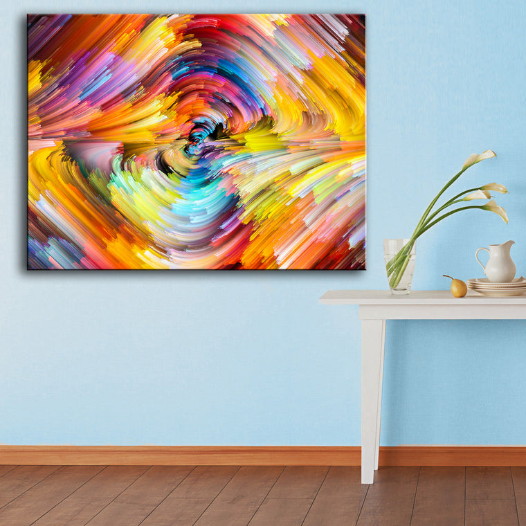Rainbow Canvas Oil Wall Painting 4