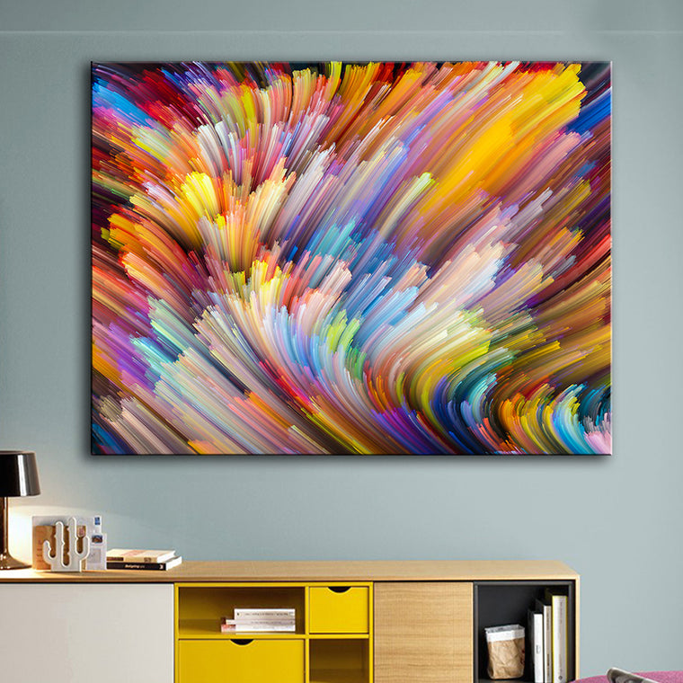 Rainbow Canvas Oil Wall Painting 2