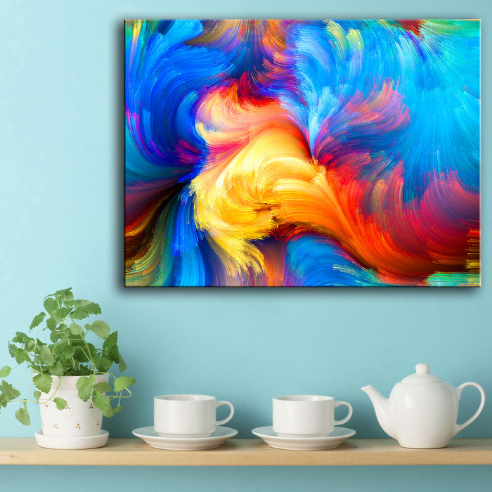 Rainbow Canvas Oil Wall Painting 11