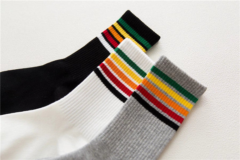 rainbow crew socks