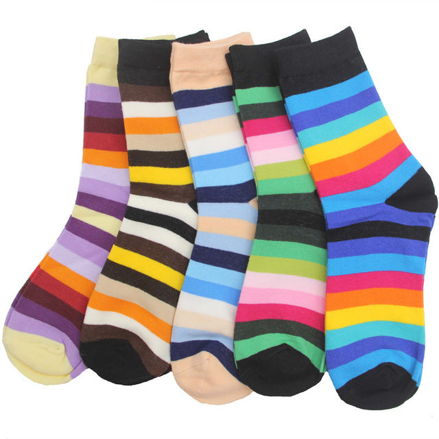 Rainbow Crew Socks - 5 Pack
