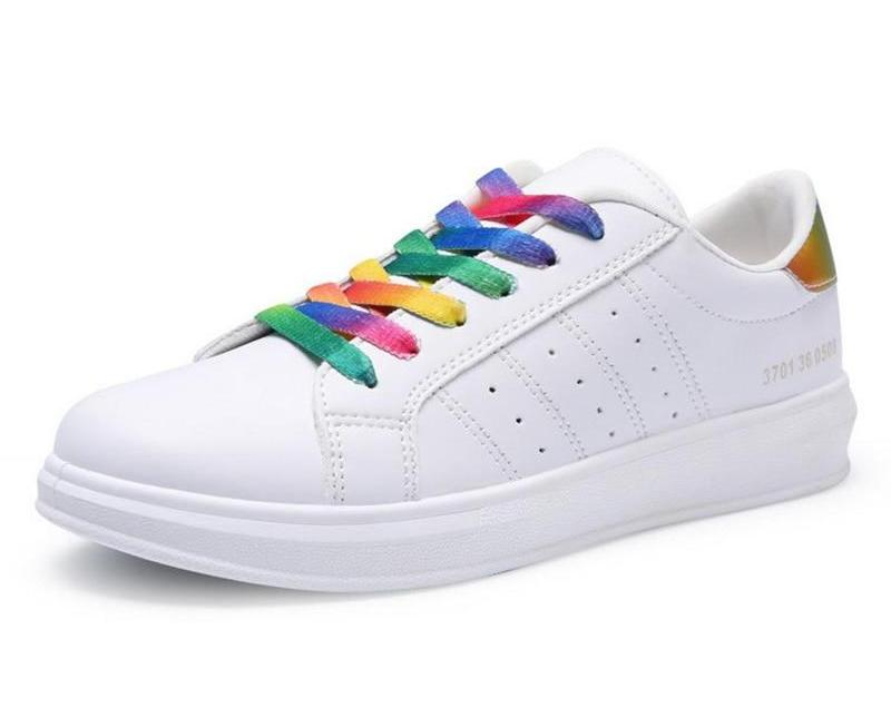 Casual Sneakers with Rainbow Lace-up