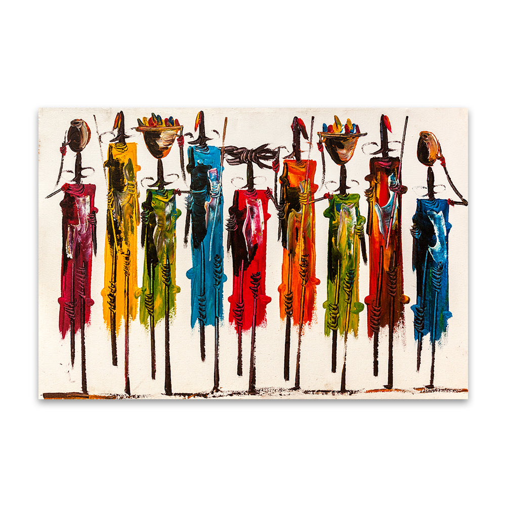 Colorful African Art Painting