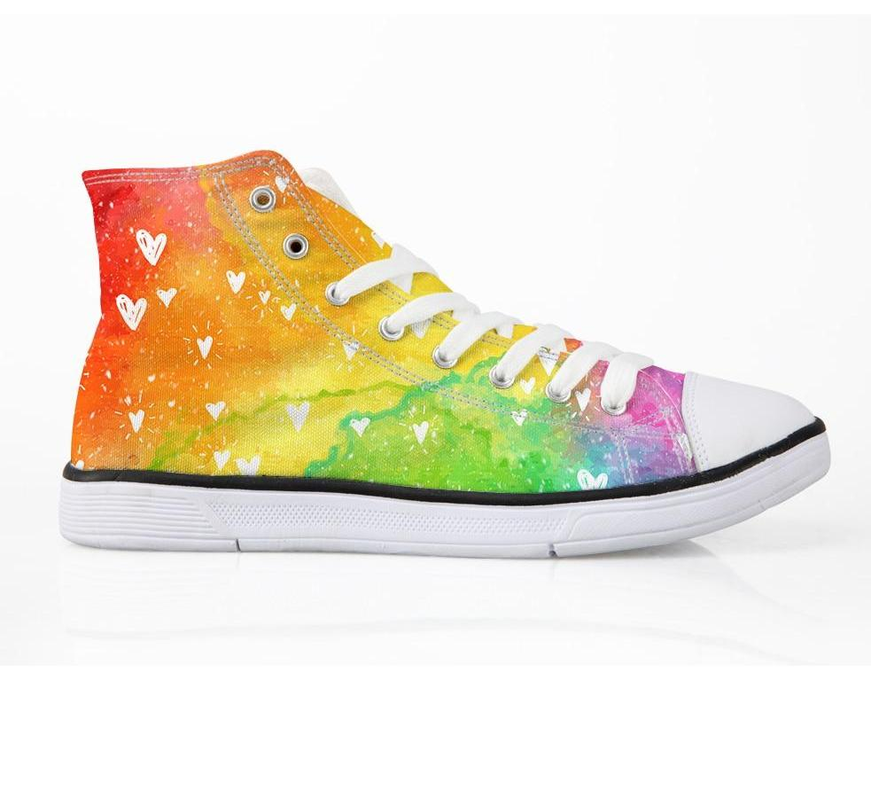Rainbow Canvas Shoes for Women