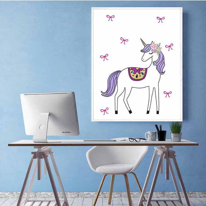 Cute Rainbow Unicorn Painting