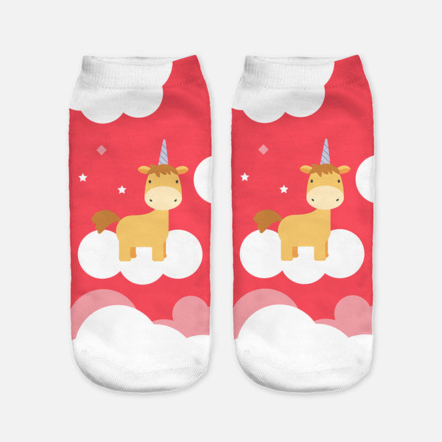 Harajuku Styled Unicorn Socks for Women