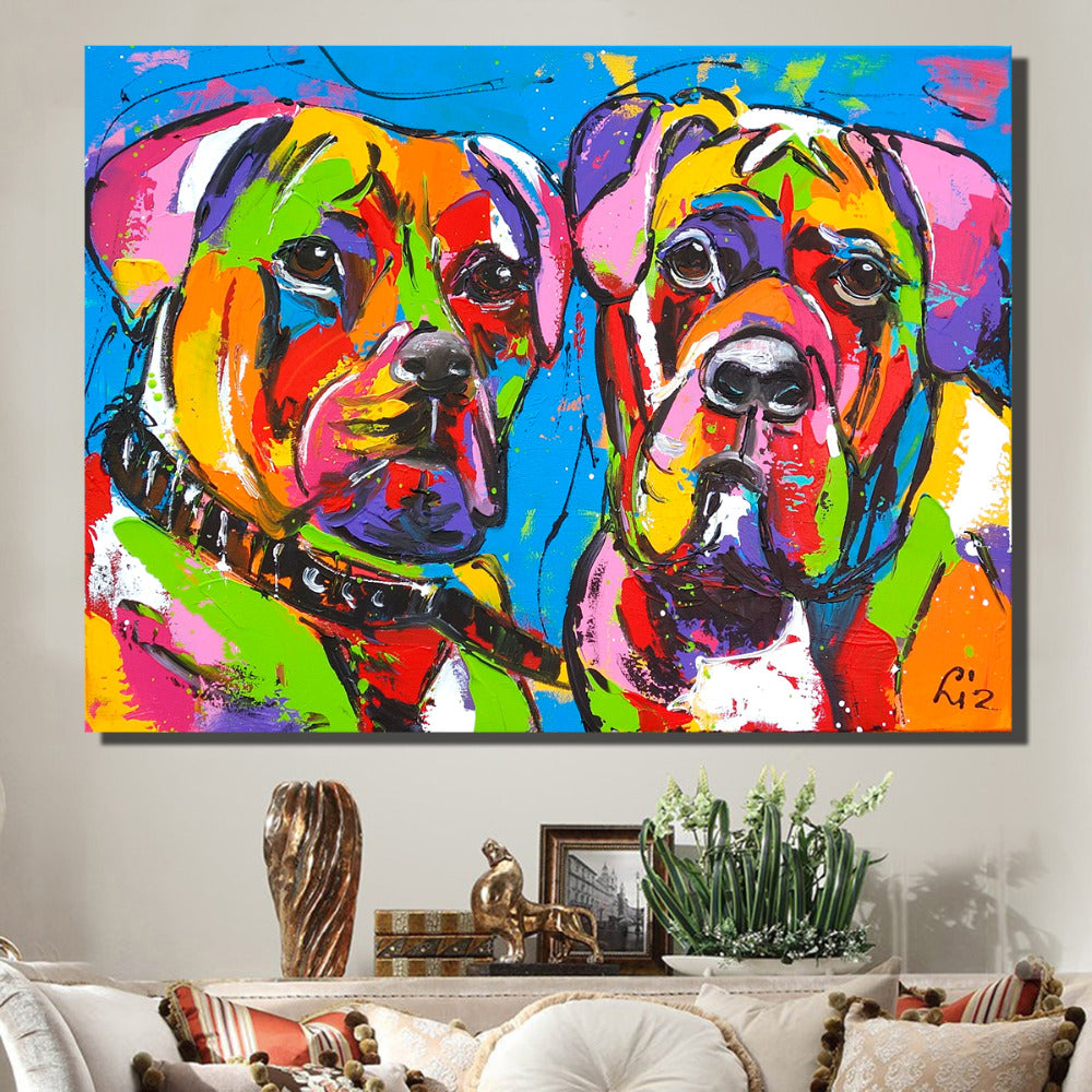 Two Dog Pop Art Painting