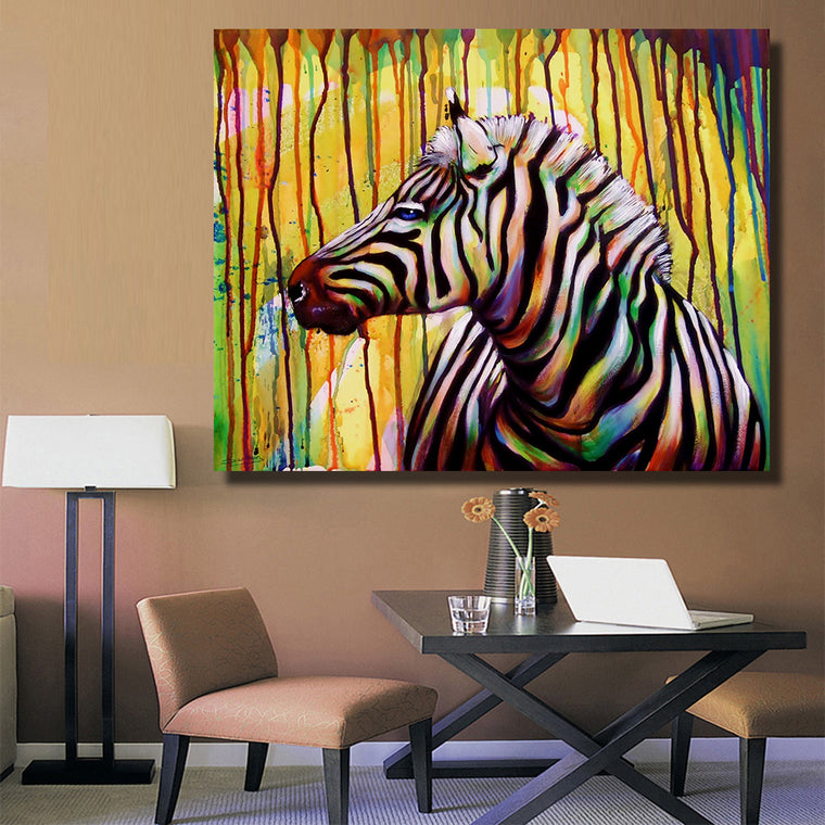 Beautiful Zebra Painting