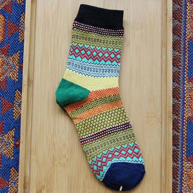 rainbow striped socks for women