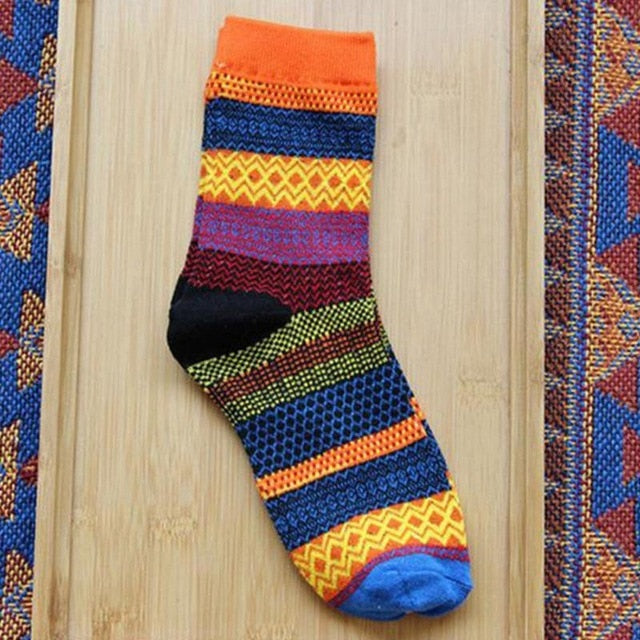 rainbow striped socks vintage style