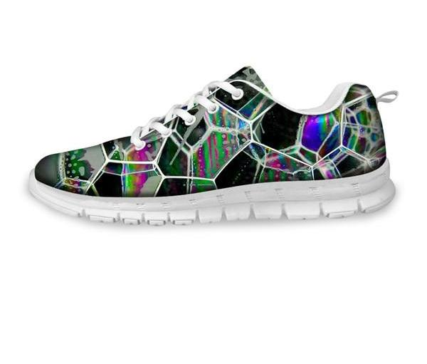 Casual Sneakers in Geometric Rainbow Print