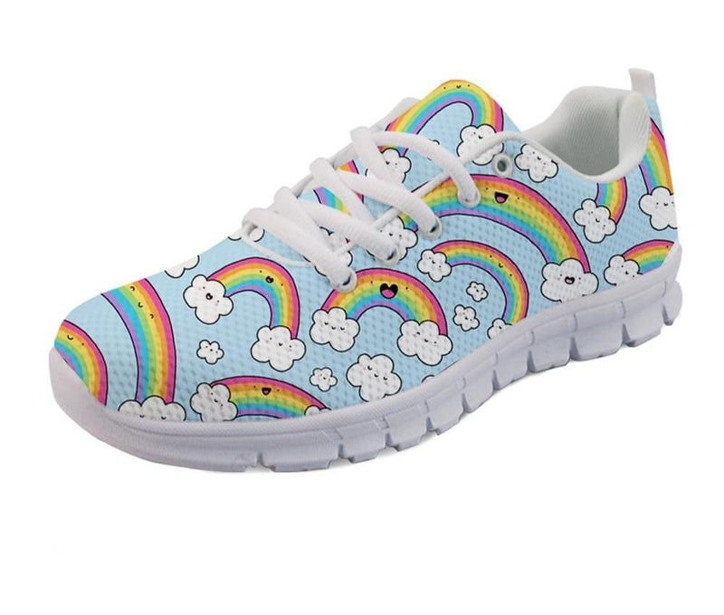 Rainbows Print Women's Sneakers