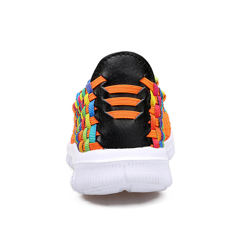 Rainbow Colored Woven Shoes