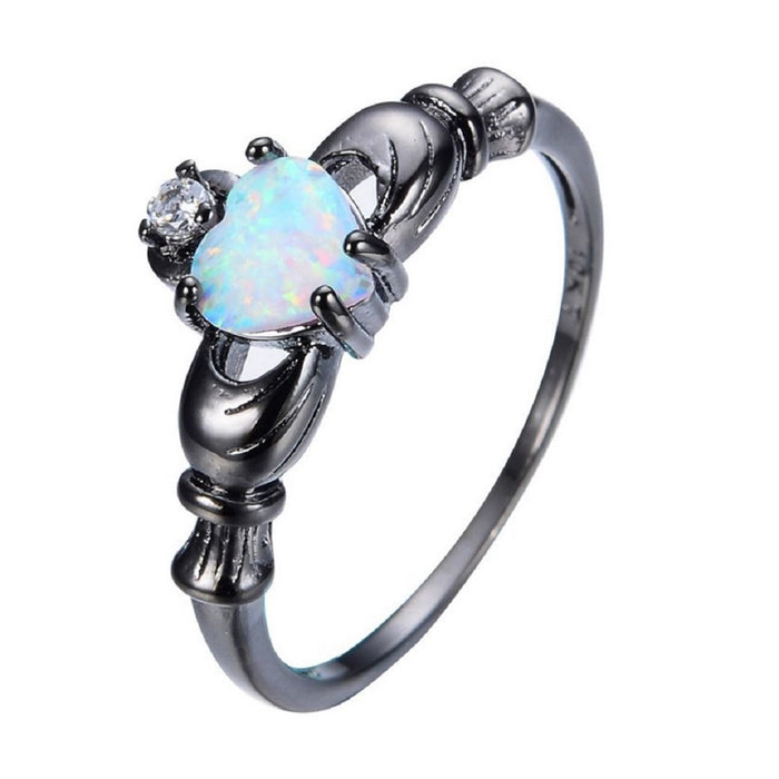 rainbow opal ring pride jewelry
