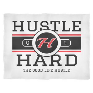 Hustle Hard Fleece Blanket, Blankets,