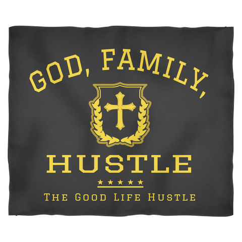 God, Family and Hustle Throw Blanket - The Good Life Hustle Blankets