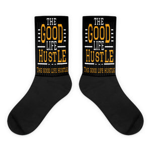 The Good Life Hustle Socks | Black Foot Socks, ,