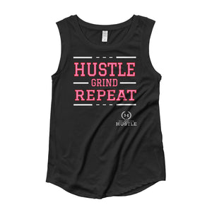 Hustle Grind Repeat Women's Graphic Cap Sleeve T-Shirt