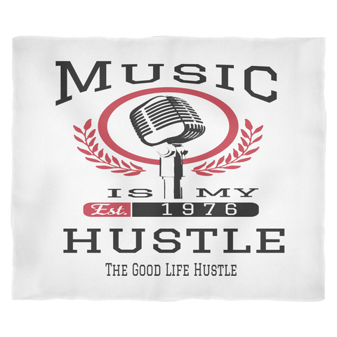 Music Is My Hustle Throw Blanket - The Good Life Hustle Blankets