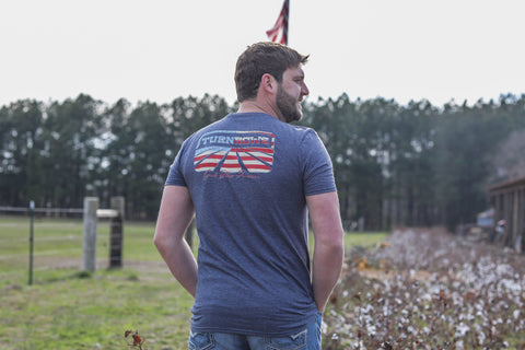 Turnrows Logo American Flag t-shirt